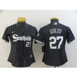 Women's Chicago White Sox #27 Lucas Giolito Black 2021 City Connect Cool Base Jersey