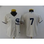 Women's Chicago White Sox #7 Tim Anderson White 2021 Field of Dreams Cool Base Jersey