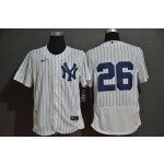 MLB New York Yankees #26 DJ LeMahieu White 2020 Nike Flexbase Jersey