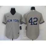 MLB New York Yankees #42 Mariano Rivera Grey 2020 Nike Cool Base Jersey
