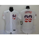 MLB New York Yankees #99 Aaron Judge White American Flag Nike Flexbase Jersey