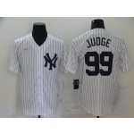 MLB New York Yankees #99 Aaron Judge White Nike Gold Cool base Jersey