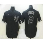 Men's New York Yankees #2 Derek Jeter Black Fashion Stitched MLB Nike Cool Base Jersey