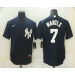 Men's New York Yankees #7 Mickey Mantle Navy Blue Stitched MLB Nike Cool Base Jersey