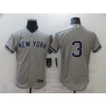 Men's New York Yankees #3 Babe Ruth Nike Grey 2020 Authentic Player MLB Jersey