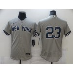 Men's New York Yankees #23 Don Mattingly Nike Grey 2020 Authentic Player MLB Jersey