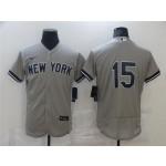 New York Yankees #15 Thurman Munson Gray Flex Base Jersey