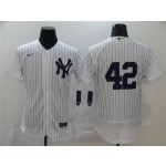 New York Yankees #42 Mariano Rivera White Flex Base Jersey