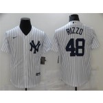 New York Yankees #48 Anthony Rizzo White Cool Base Jersey