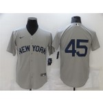 New York Yankees #45 Gerrit Cole Gray 2021 Field of Dreams Cool Base Jersey