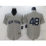 New York Yankees #48 Anthony Rizzo Gray 2021 Field of Dreams Cool Base Jersey