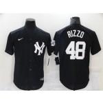New York Yankees #48 Anthony Rizzo Black Fashion Cool Base Jersey