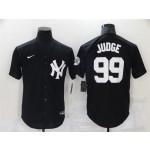 New York Yankees #99 Aaron Judge Black Fashion Cool Base Jersey