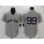 New York Yankees #99 Aaron Judge Gray 2021 Field of Dreams Cool Base Jersey