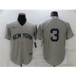 New York Yankees #3 Babe Ruth Gray 2021 Field of Dreams Cool Base Jersey