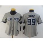 Women New York Yankees #99 Aaron Judge Grey 2020 Nike Cool Base Jersey