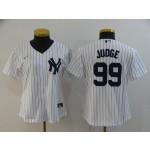Women New York Yankees #99 Aaron Judge White 2020 Nike Cool Base Jersey
