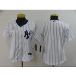 Women New York Yankees Blank White 2020 Nike Cool Base Jersey