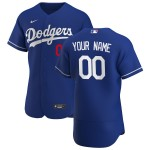 Men's Los Angeles Dodgers Custom Nike Royal Alternate 2020 Authentic Flexbase MLB Jersey(Name and number remark in comment column)