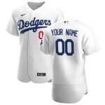 Men's Los Angeles Dodgers Custom Nike White Home 2020 Authentic Flexbase MLB Jersey(Name and number remark in comment column)