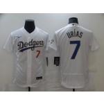 Men's Los Angeles Dodgers #7 Julio Urias White Golden program Flexbase Jersey