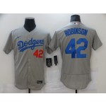 Nike Men's Los Angeles Dodgers #42 Jackie Robinson Gray Flexbase Jersey