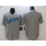 Nike Men's Los Angeles Dodgers grey blank Authentic Team MLB Jersey