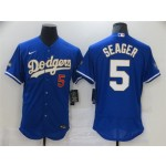 MLB Los Angeles Dodgers #5 Corey Seager Royal Nike 2021 Gold Program Flexbase Jersey