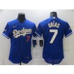 MLB Los Angeles Dodgers #7 Julio Urias Royal Nike 2021 Gold Program Flexbase Jerseys