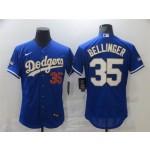 MLB Los Angeles Dodgers #35 Cody Bellinger Royal Nike 2021 Gold Program Flexbase Jerseys