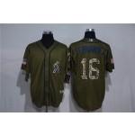 MLB Miami Marlins #16 Jose Fernandez Olive 2020 Nike Cool Base Jersey
