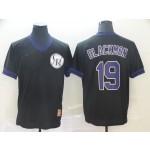 MLB Colorado Rockies #19 Charlie Blackmon Black Nike Throwback Jersey