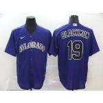 MLB Colorado Rockies #19 Charlie Blackmon Purple 2020 Nike Cool Base Jersey