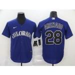 MLB Colorado Rockies #28 Nolan Arenado Purple 2020 Nike Cool Base Jersey