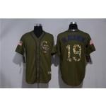 MLB Colorado Rockies #19 Charlie Blackmon Olive 2020 Nike Cool Base Jersey