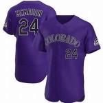 Men's Colorado Rockies #24 Ryan McMahon Nike Purple Alternate 2020 Authentic Player MLB Jersey