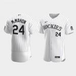Men's Colorado Rockies #24 Ryan McMahon Nike White Home 2020 Authentic Player MLB Jersey
