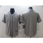 Nike Men's Colorado Rockies grey Stitched MLB Blank Cool Base Jersey