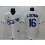 MLB Kansas City Royals #16 Bo Jackson White 2020 Nike Cool Base Jersey