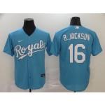 MLB Kansas City Royals #16 Bo Jackson Sky Blue 2020 Nike Cool Base Jersey