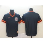 MLB Detroit Tigers Blank Navy Nike Throwback Jersey