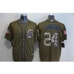 MLB Detroit Tigers #24 Miguel Cabrera Olive 2020 Nike Cool Base Jersey