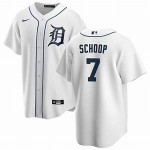 Men's Detroit Tigers #7 Jonathan Schoop Nike White Home 2020 Authentic Cool base Jersey
