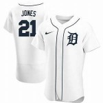 Men's Detroit Tigers #21 JaCoby Jones Nike White Home 2020 Authentic Player MLB Jersey