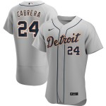 Men's Detroit Tigers #24 Miguel Cabrera Nike Gray Road 2020 Authentic Player MLB Jersey