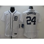 Men's Detroit Tigers #24 Miguel Cabrera Nike White Home 2020 Authentic Player MLB Jersey