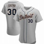 Men's Detroit Tigers #30 Harold Castro Nike Gray Road 2020 Authentic Player MLB Jersey