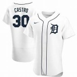 Men's Detroit Tigers #30 Harold Castro Nike White Home 2020 Authentic Player MLB Jersey