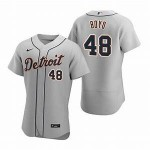 Men's Detroit Tigers #48 Matthew Boyd Nike Gray Road 2020 Authentic Player MLB Jersey