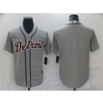 Detroit Tigers Gray Cool Base Team Jersey